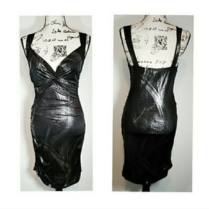 💲3/$15 Misope black and silver dress size M